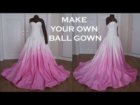 DIY Prom/Wedding Ball Gown Dress - YouTube | Costume tutorials ...