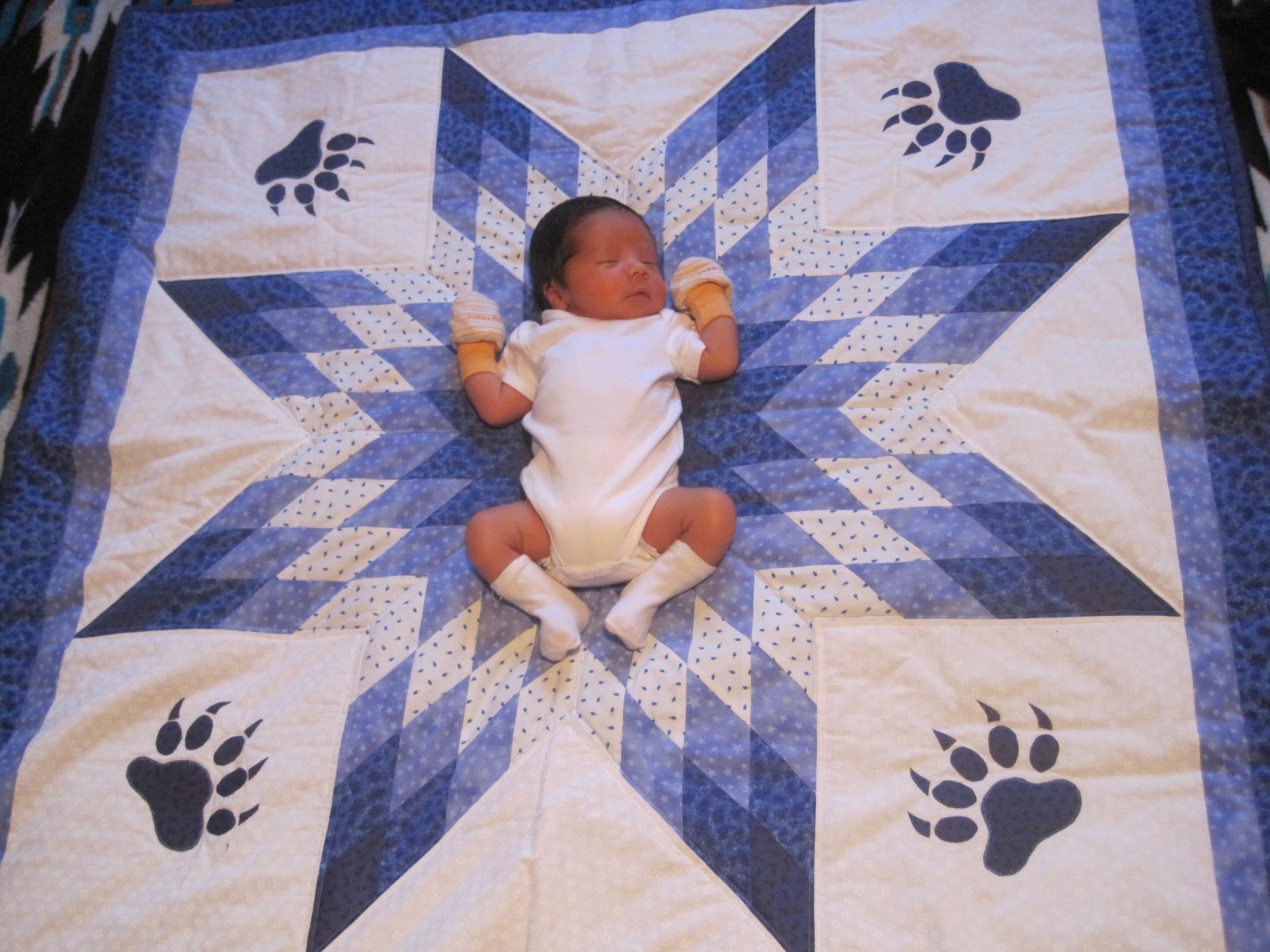 Baby Ezekiel's lone star quilt | My Handmade Baby Quilts ... : star baby quilt - Adamdwight.com