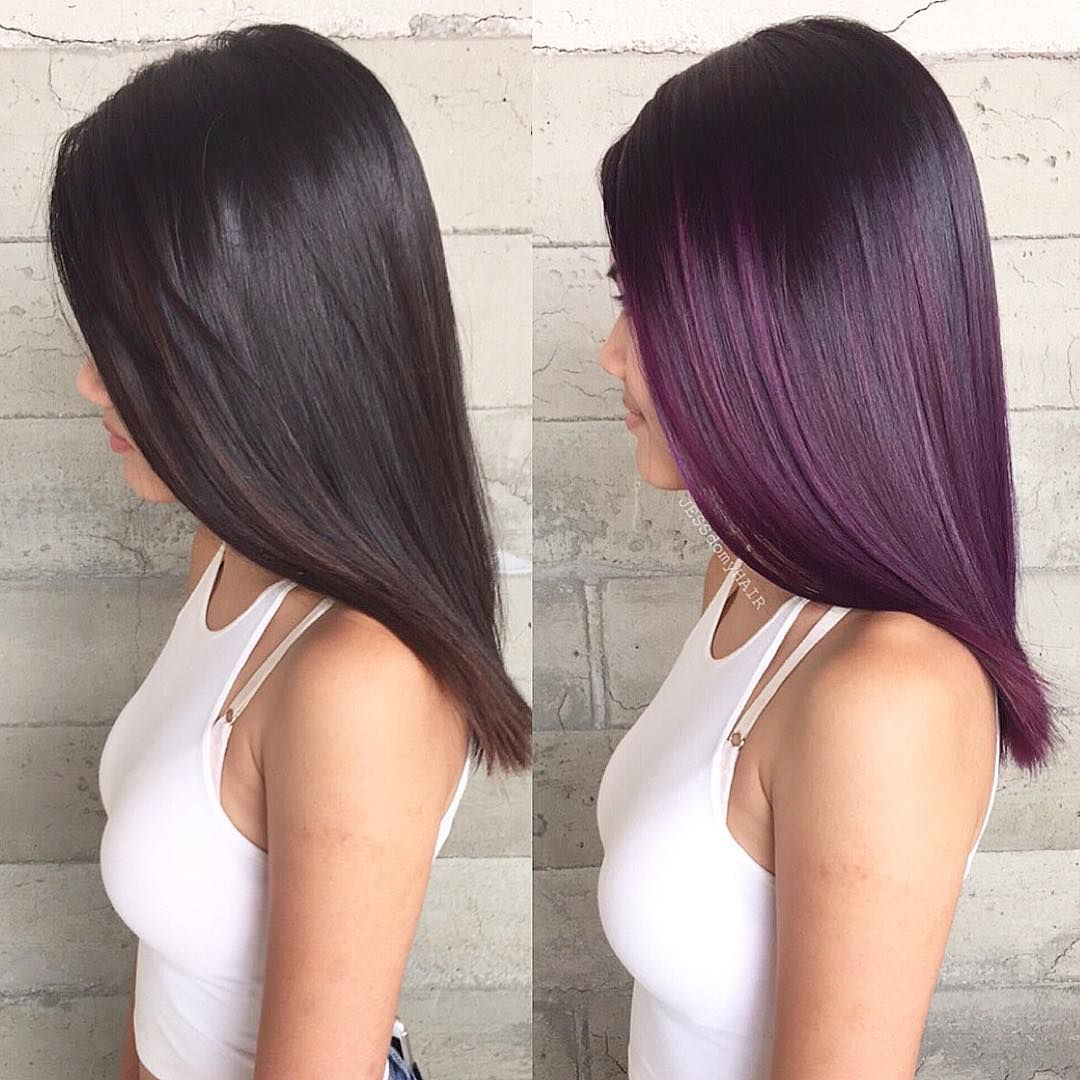 Jessica Mendieta On Instagram Why Does It Look Like I Used An App To Change Her Hair Color Doe Purpl Hair Inspo Color Burgundy Hair Hair Color