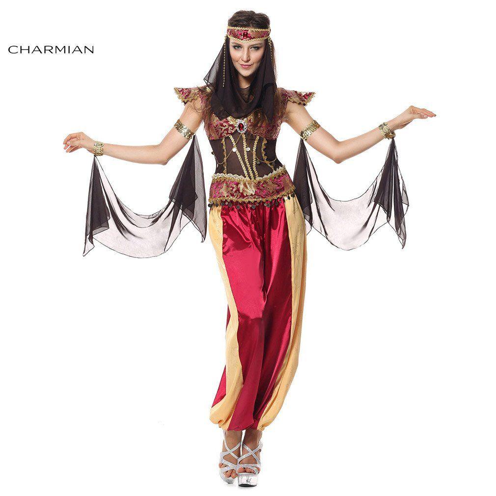 charmian women's deluxe arab queen of egypt halloween cosplay
