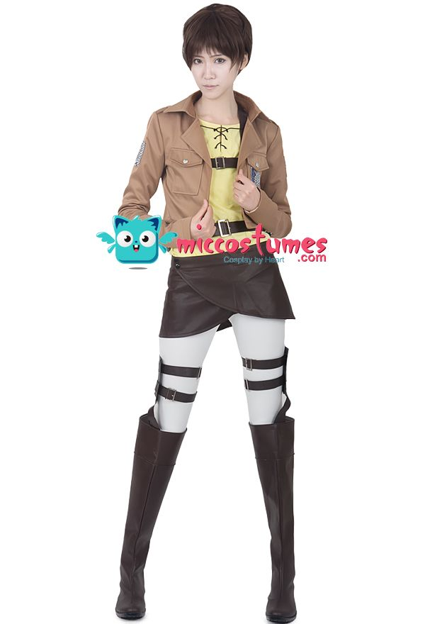 Attack on Titan Eren Yeager Cosplay Costume For Sale