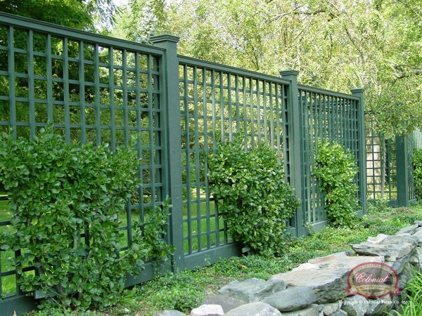 Blue Stone Patio, Lattice Fencing And Stone Wall Patios     Yahoo Image  Search Results