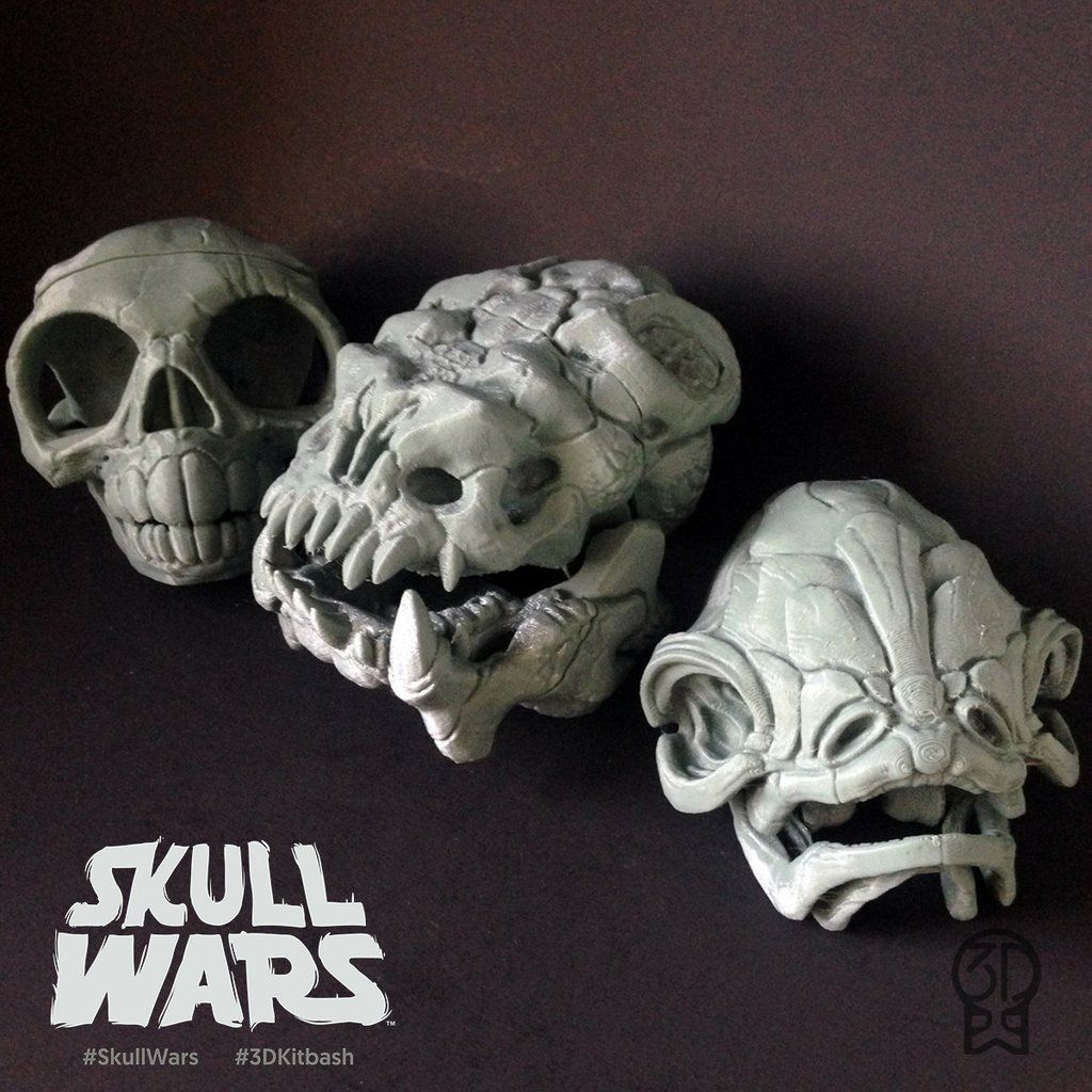SKULL WARS Set 4 - \'Space Bear\', \'Pit Beast\', and \'Trap Spotter ...