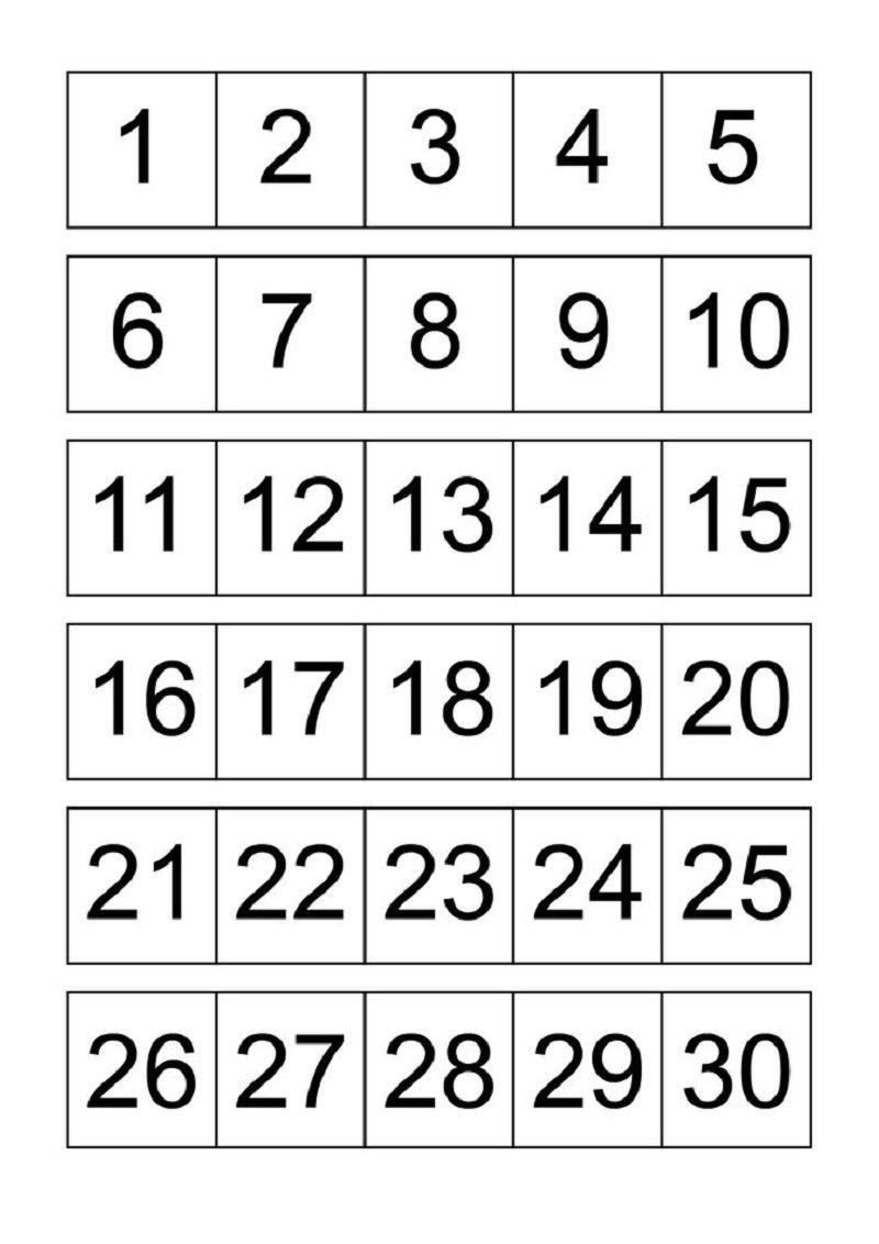 Numbers 1 30 For Kids Printable Calendar Numbers Free Printable Numbers Printable Numbers [ 1132 x 800 Pixel ]