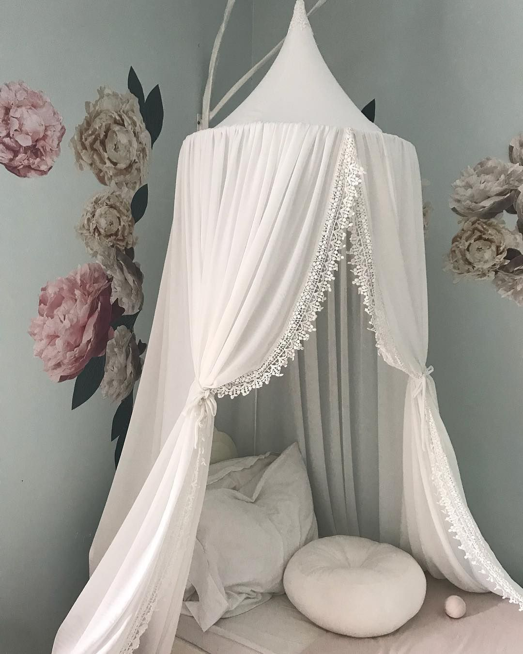 Pure white lace canopy .missnmaster.com & Pure white lace canopy www.missnmaster.com | Kidu0027s Canopies in 2019 ...