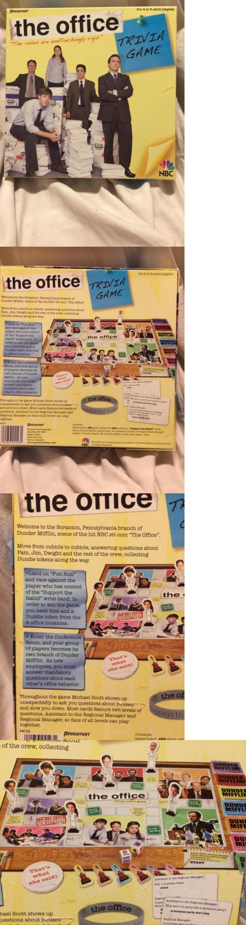 contemporary manufacture 180349 the office trivia board game by pressman nbc 2 to 6 players