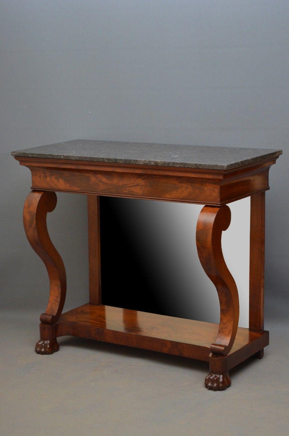 Elegant Regency Mahogany Console Table Hall Table 331944 Hall Table Table Console Table
