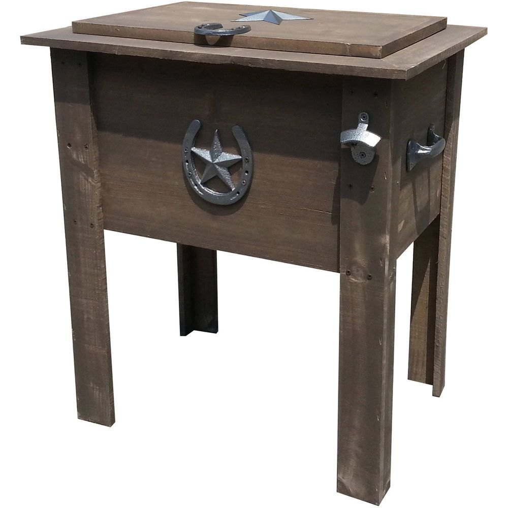 Outdoor Patio Cooler Country 54 Qt Cold Beverage Drinks Bottle Opener Home  Party