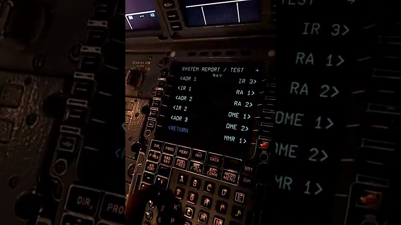 How to Check CFDS From MCDU and Print PFR on Airbus A320 in