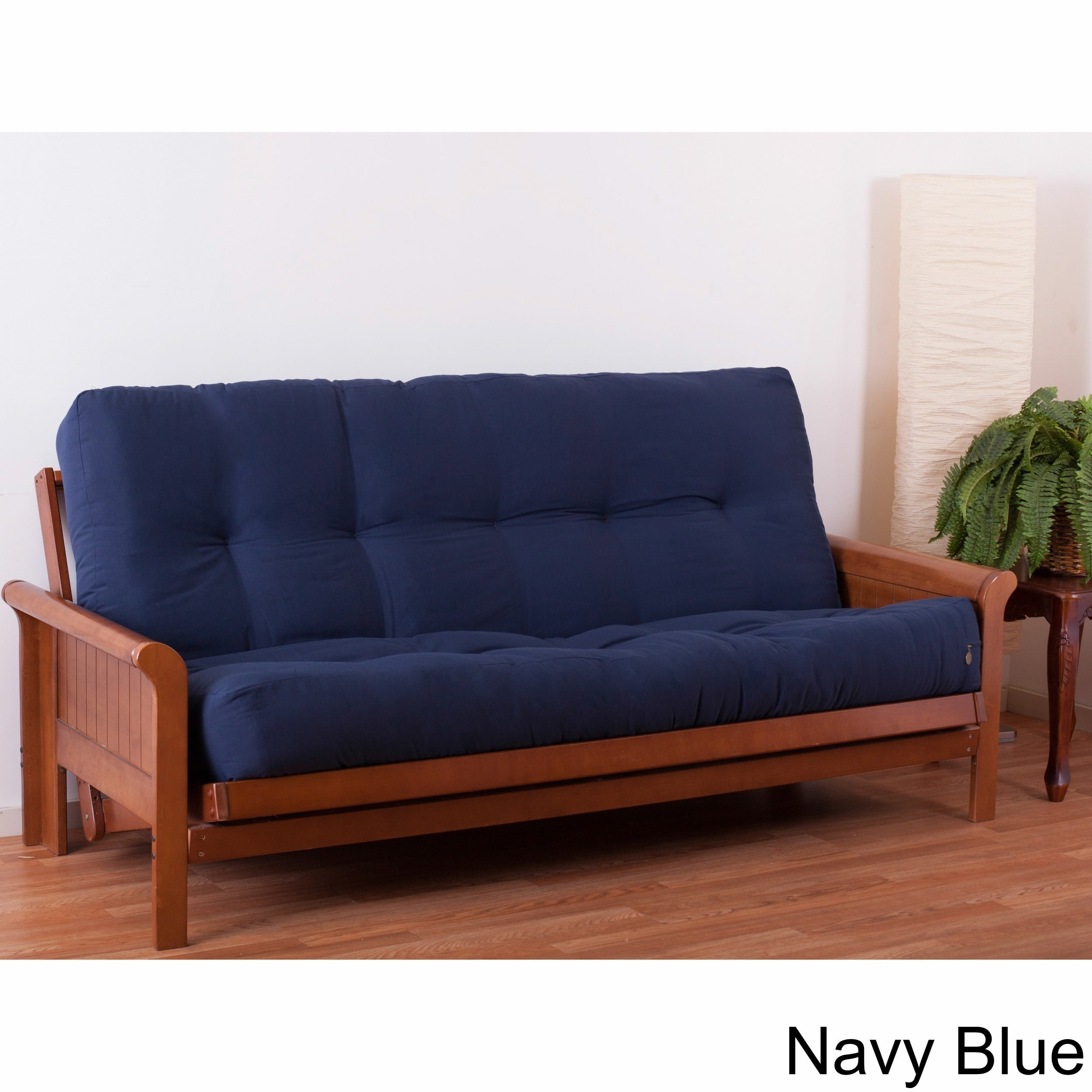 Blazing Needles Full 9 Inch Perfect Pocket Coil Spring Futon Mattress Navy