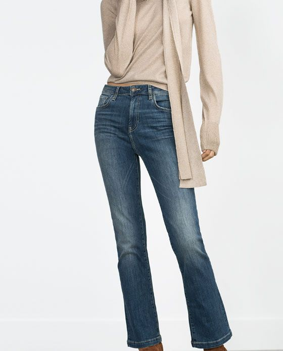 4c114e6c Image 3 of CROPPED SLIM HIGH WAIST JEANS from Zara | Pants | High ...