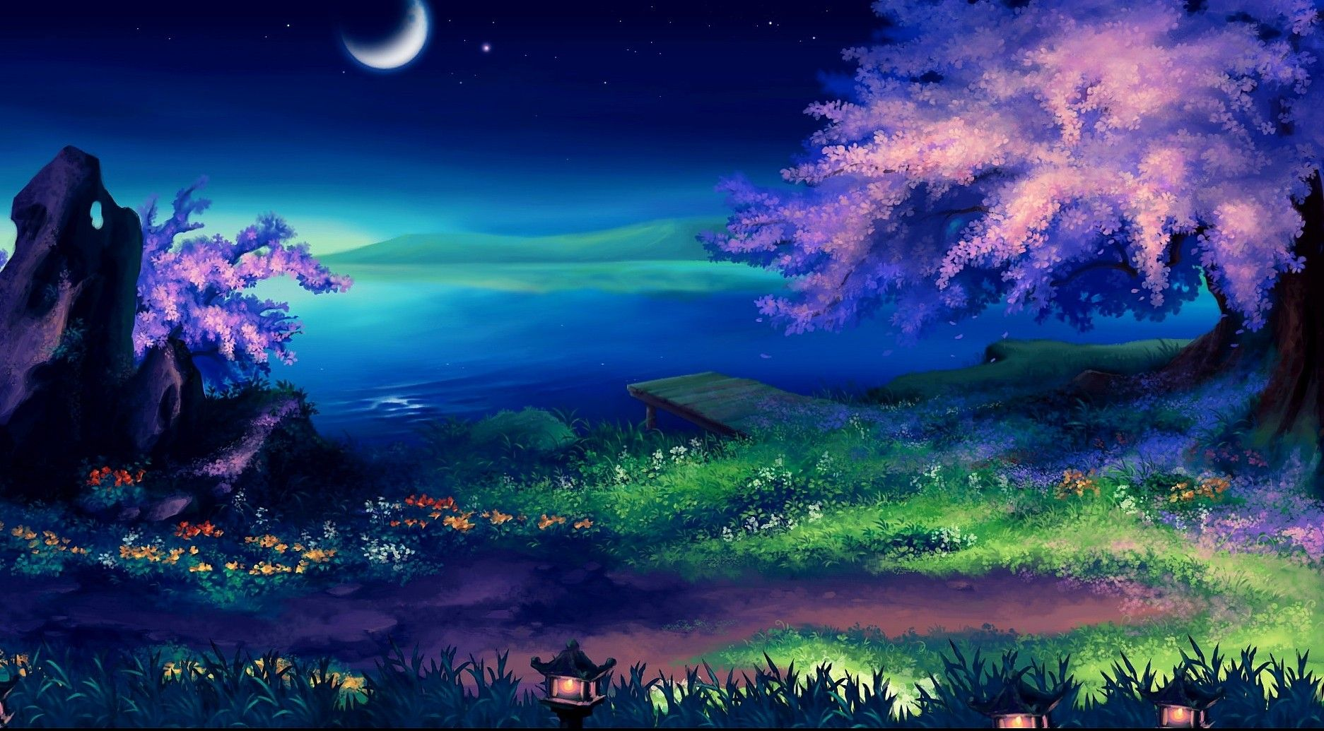 Mostnature Com Moon Amazing Nature Pretty Landscape Splendor Magic Fantasy Beautiful Colorful Night Rice Fantasy Landscape Pretty Landscapes Fantasy Pictures
