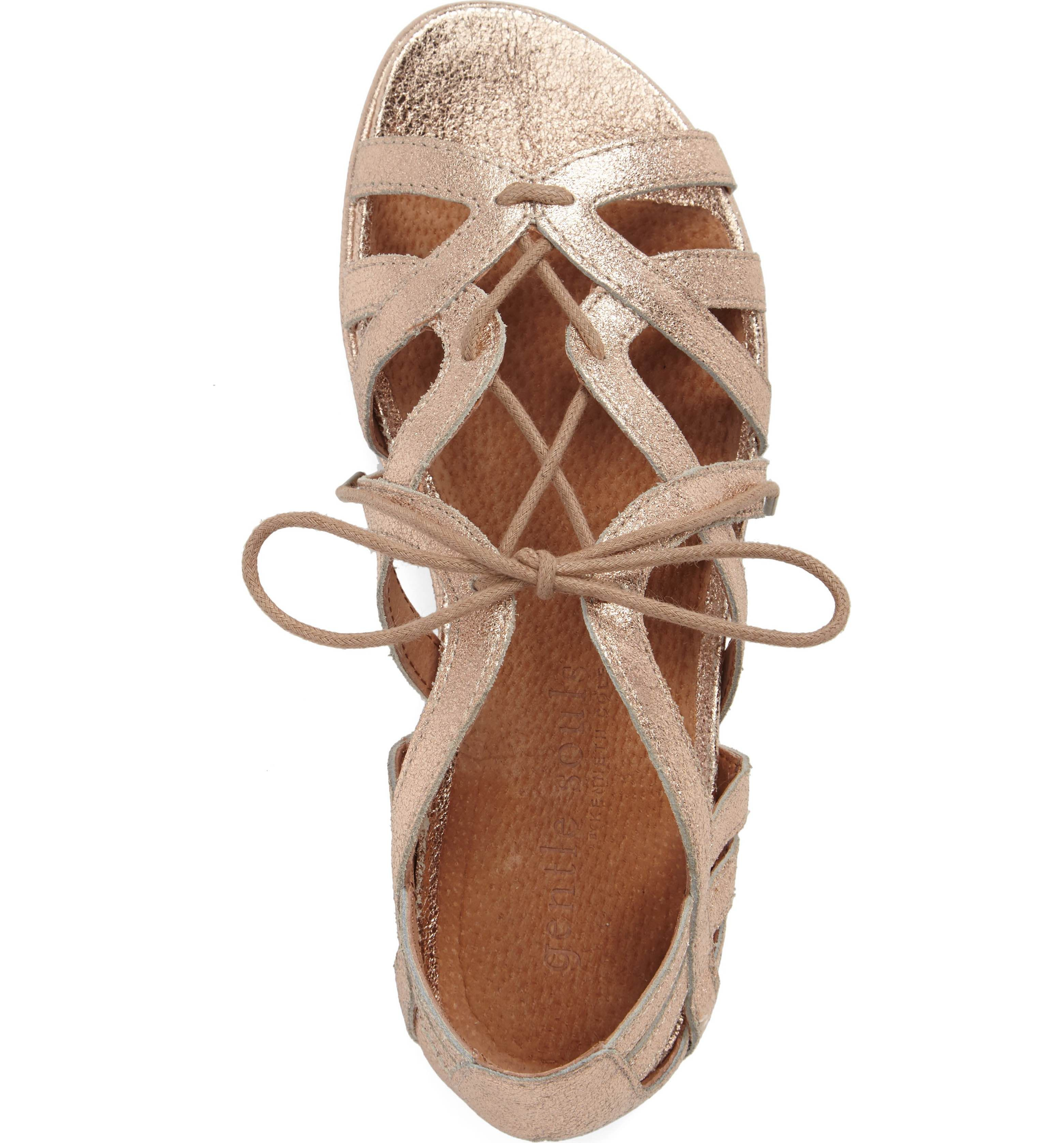 c844a6375fa Main Image - Gentle Souls  Orly  Lace-Up Sandal (Women) (Nordstrom  Exclusive)