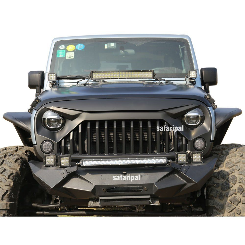 Safaripal Jeep Wrangler Gladiator Angry Front Grille Grill