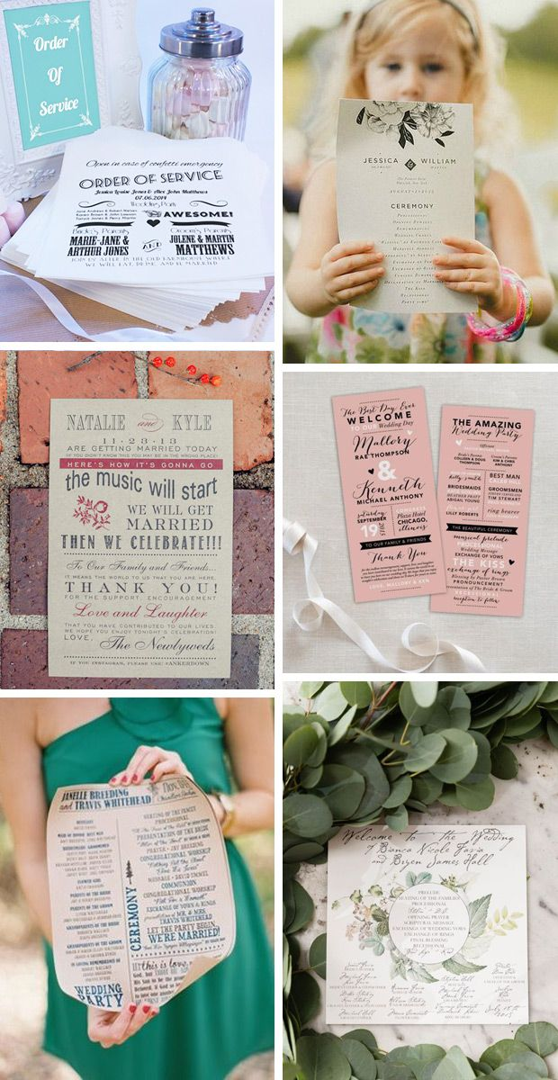 24 Wedding Program And Ceremony Booklet Ideas