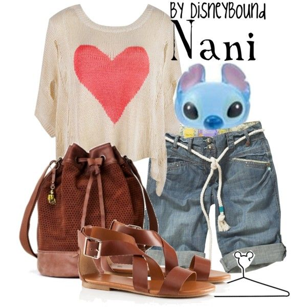 Nani, created by lalakay on Polyvore... Never saw Lilo and Stitch, but I love this little outfit. Makes me think of summer vacation.
