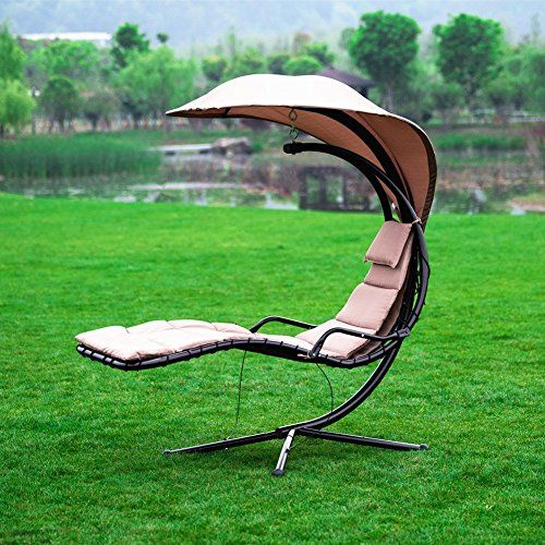 Naturefun Hammock Chair With Arc Stand Adjustable Canopy