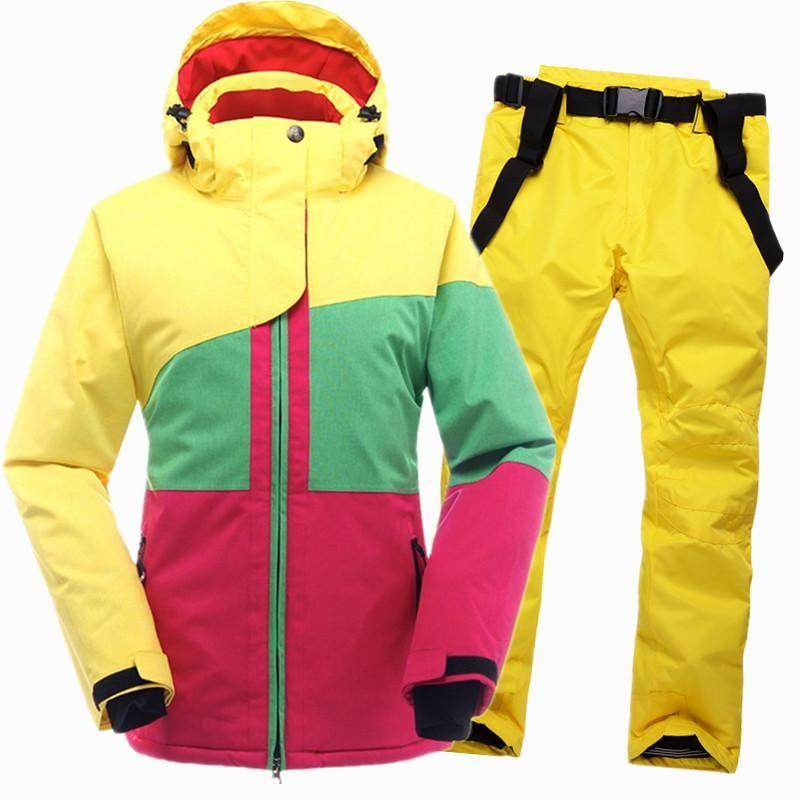SAENSHING Winter Ski Suit Female Women Waterproof Ski Jacket Snowboard Pant  Thermal Breathable Cheap Outdoor Mountain Skiing Set e6d4eabb6