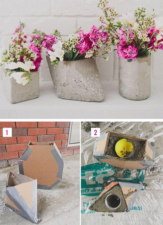 DIY Cement Centerpieces