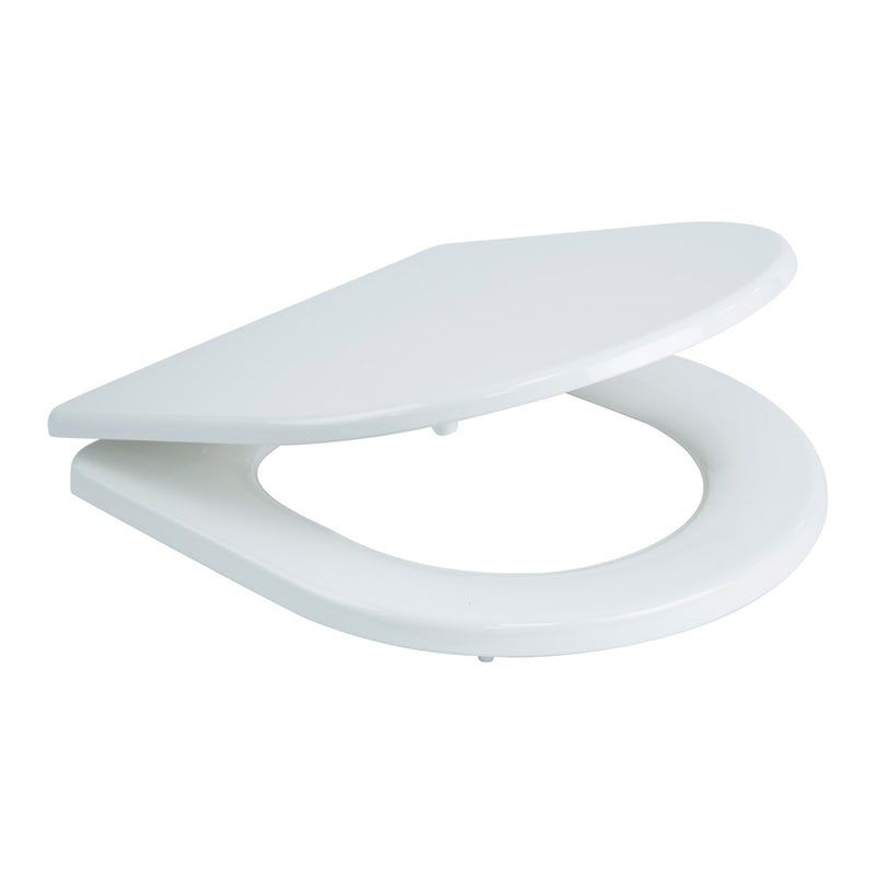 Croydex Garda Flexi Fix Soft Close Quick Release D Shaped White