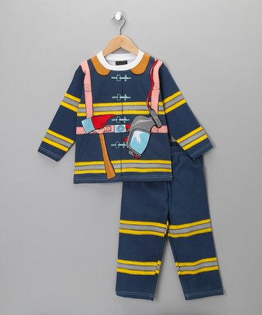 Boys Kids Fireman Sam Pyjamas Long Sleeve Nightwear PJs 100/% Cotton Blue Orange