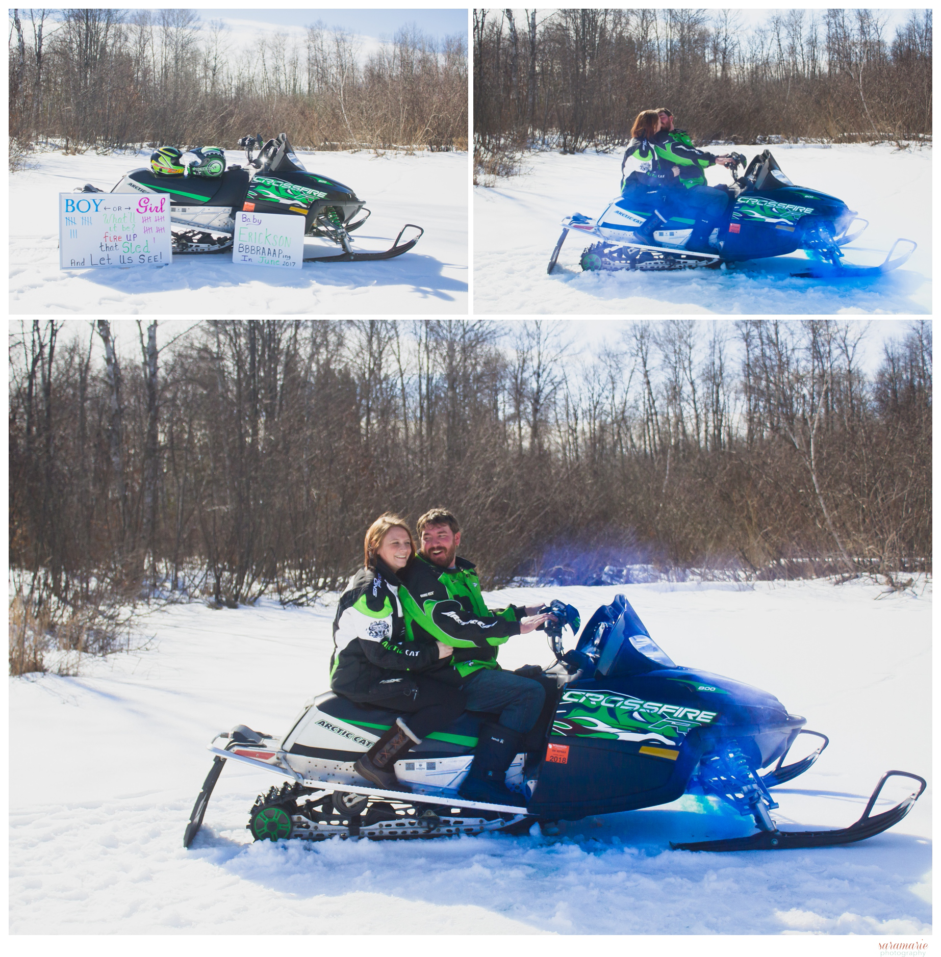 696f9c129 Snowmobile Gender Reveal Arctic Cat Style