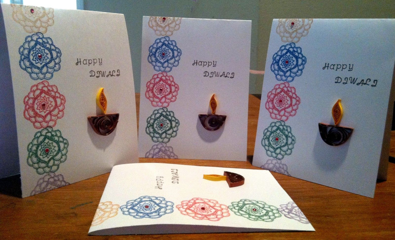 My kraft korner happy diwali card making ideas pinterest simple diwali card making ideas to celebrate diwali craft kristyandbryce Gallery