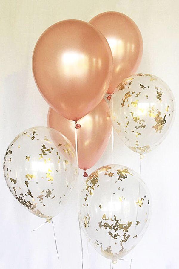 Rose Gold Fleck Balloons Rose Gold