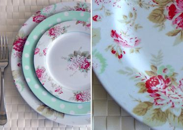 fresh breeze floral melamine dinnerware cs post - Melamine Dishes