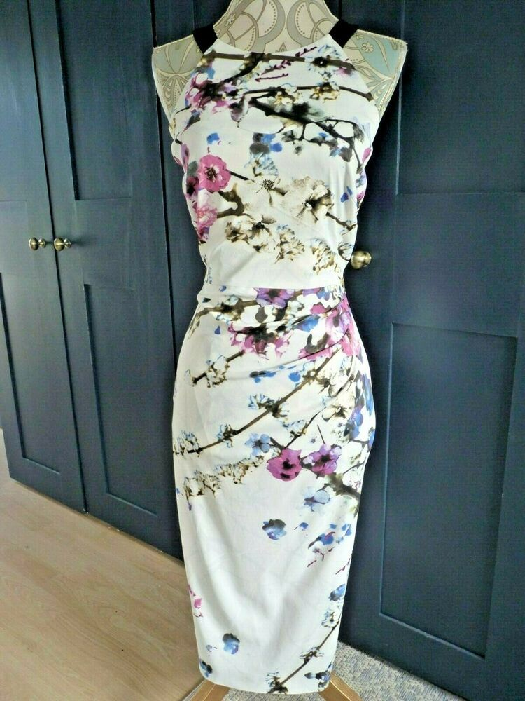 Stunning Authentic Karen Millen Wiggle Dress Size 14 Fashion Clothing Shoes Accessories Womensclothing Dresses Karen Millen Dress Size 14 Dresses Dresses