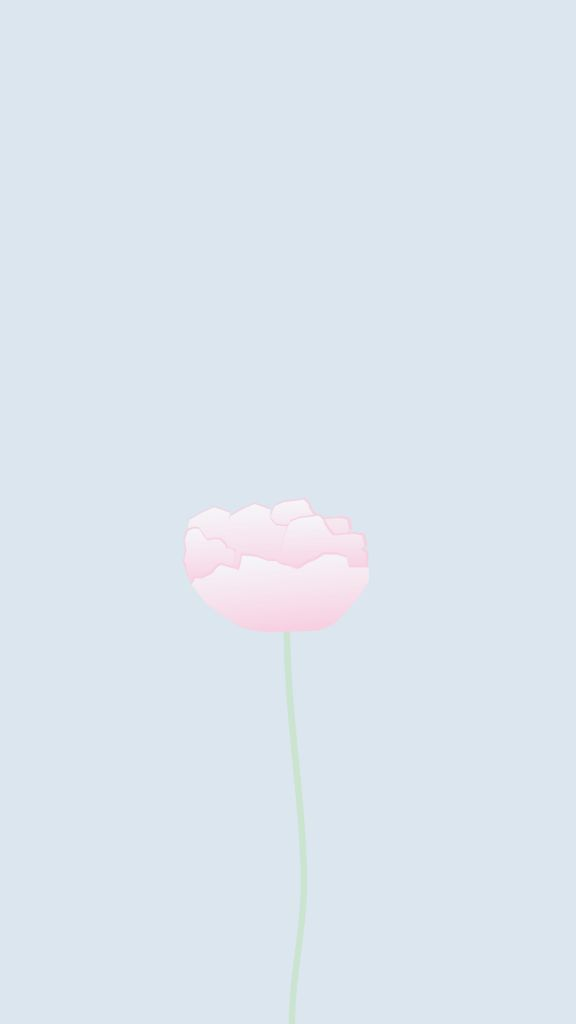 Minimal Pastel Blue Pink Flower Iphone Phone Wallpaper Background
