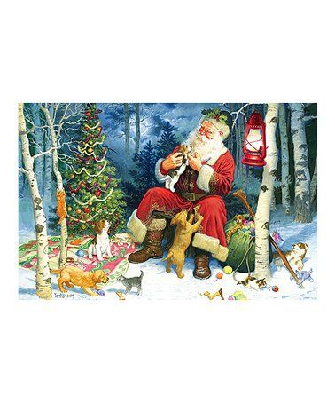 Love this Santa's Pets 60-Piece Puzzle on #zulily! #zulilyfinds
