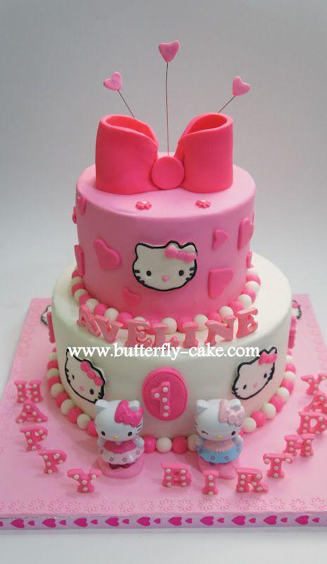 hello kitty cake - get happy birthday candles