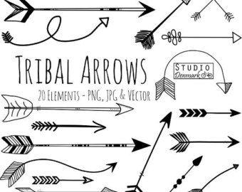 Tribal Arrow Clipart And Vectors Hand Drawn Arrow Clip Art Aztec Doodle Arrows Commercial And Personal Use In Hand Drawn Arrows Arrow Clipart Tribal Arrows
