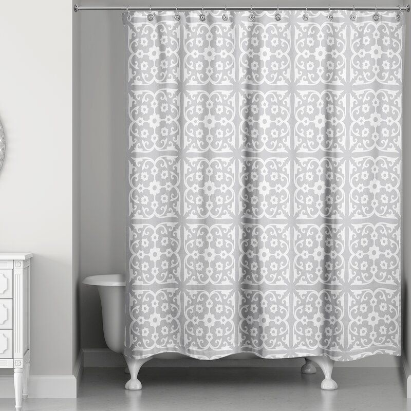 Killingsworth Tile Single Shower Curtain With Images