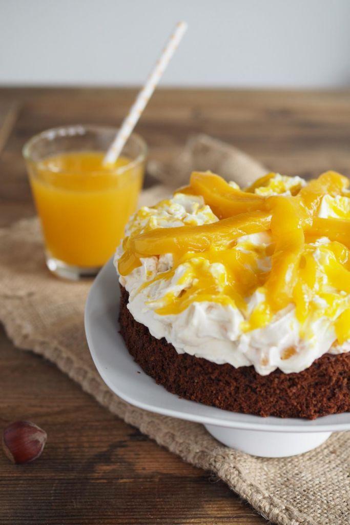 Rezept Fur Eine Mango Mascarpone Torte Mit Haselnussen Springform
