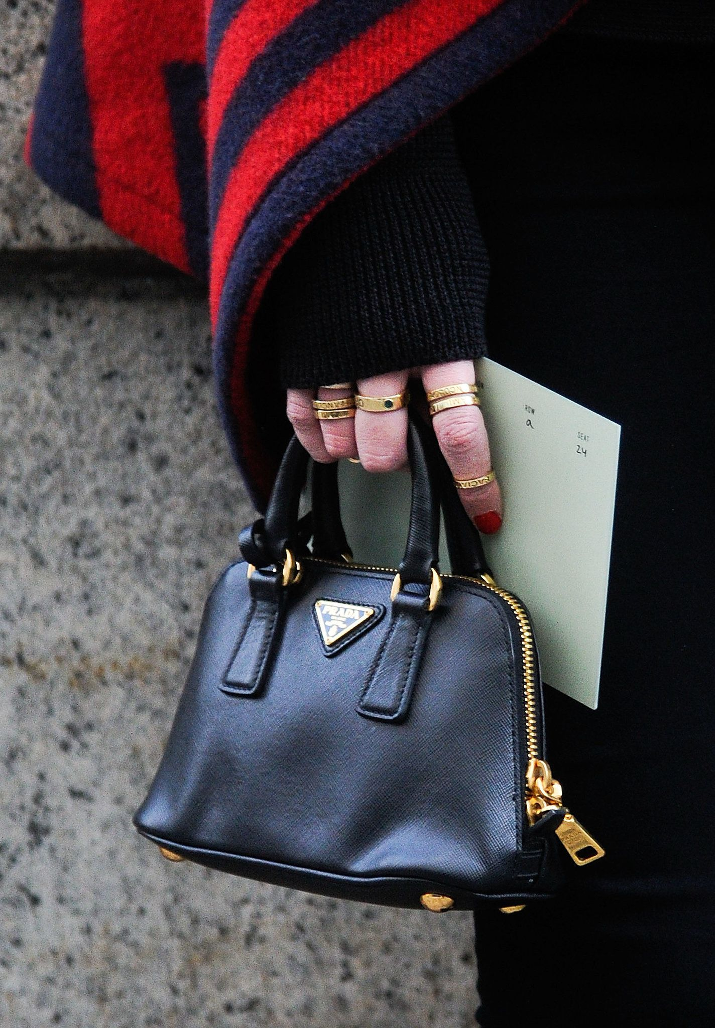 fd3623aada0 Is there anything cuter than a Prada micro-mini bag !  streetstyle  NYFW