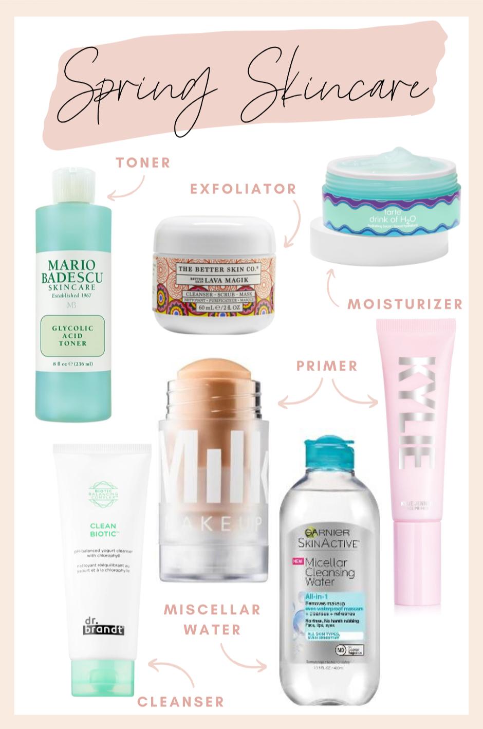 Spring Morning Skincare Routine In 2020 Morning Skin Care Routine Morning Skincare Spring Skin Care