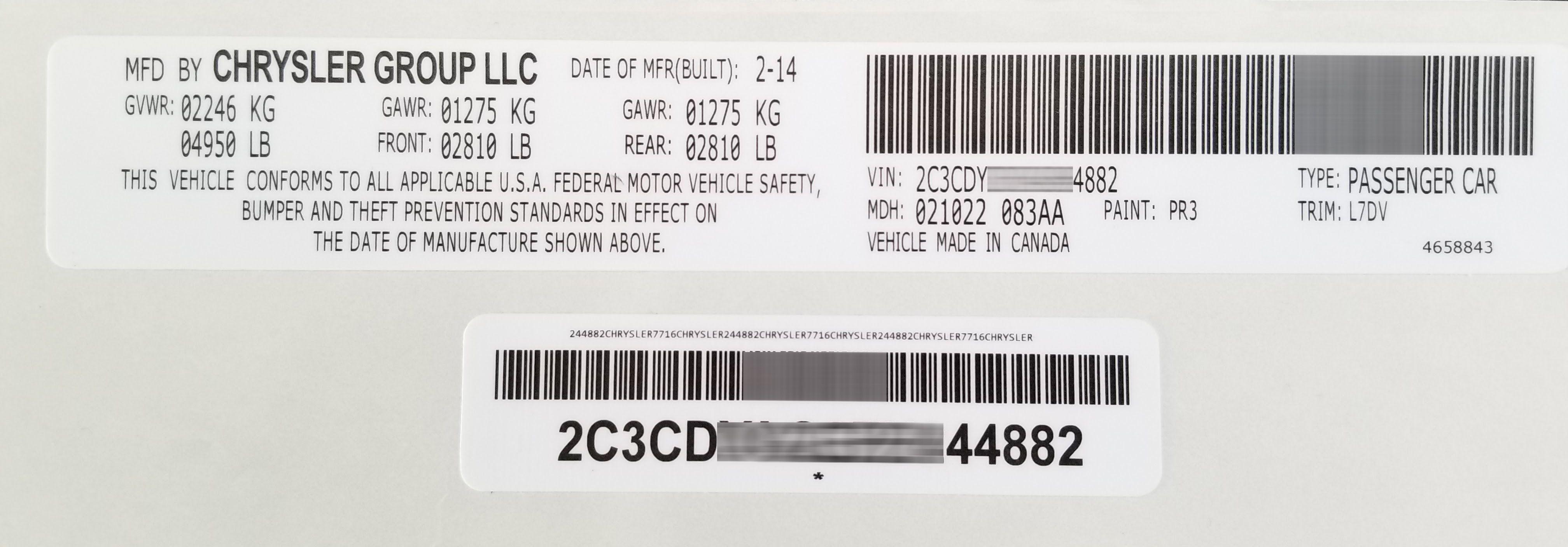Http Www Vinslabels Com Jeep Vin Stickers Labels Chrysler
