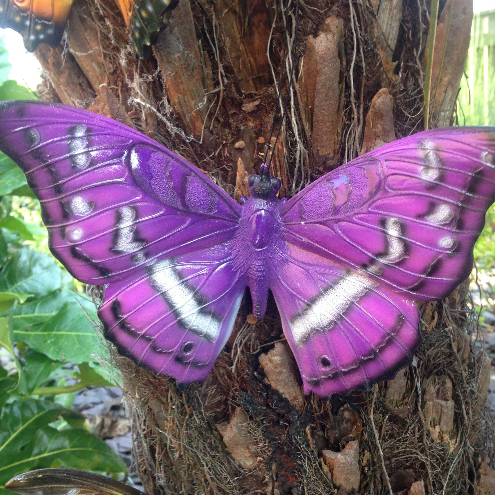 Butterfly lawn ornaments -  Butterfly Wall Art Purple Vivid Arts Garden Ornament Indoors Outdoors View