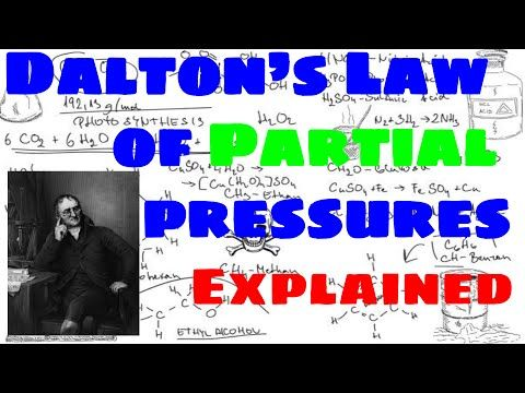 Dalton S Law Of Partial Pressures Explained Chemistry Class