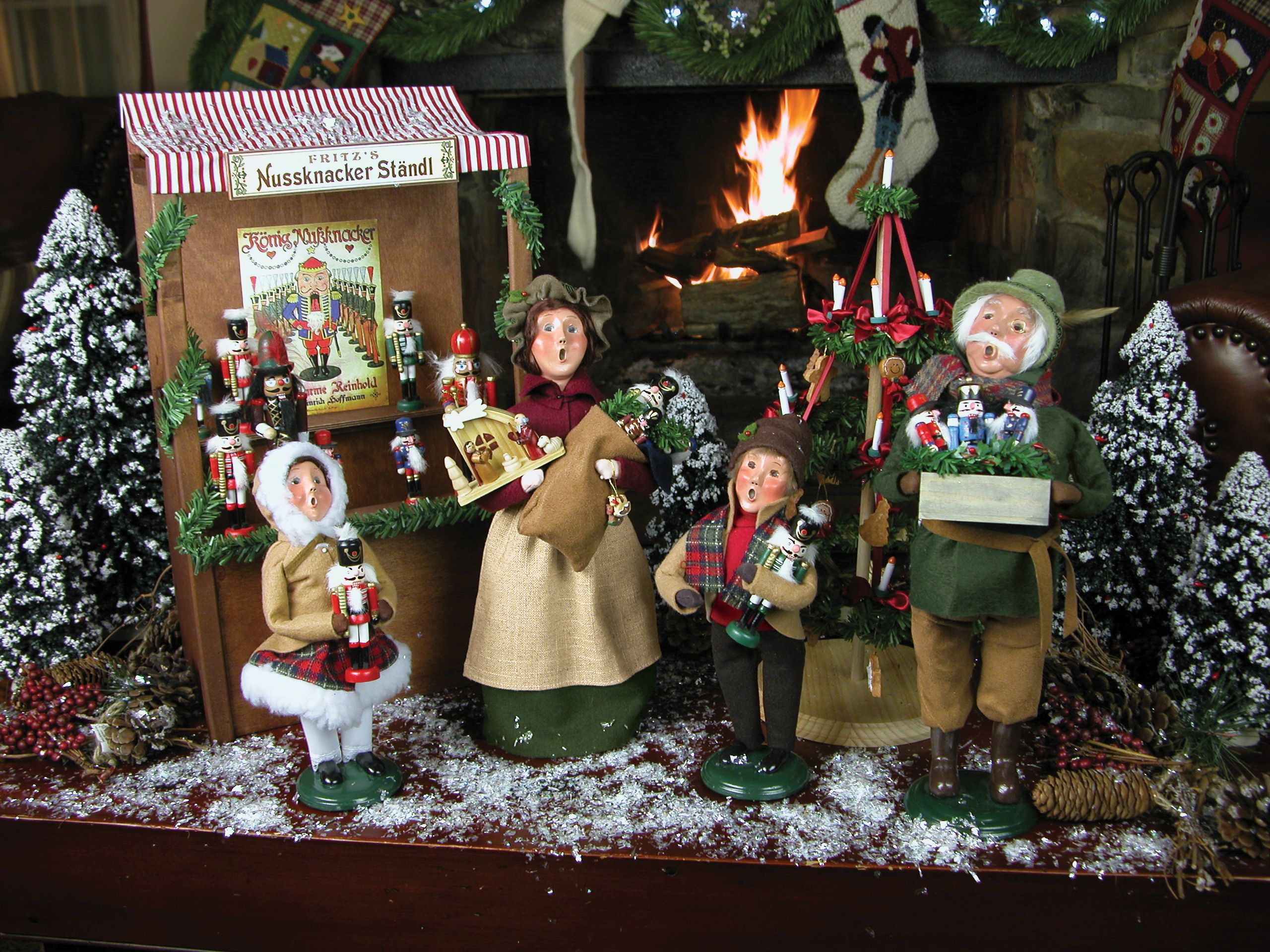 Christmas carolers figurines for sale - Girl Holding Nutcracker Byers Choice Carolers New For 2014 Christmas Market Collection Byers Choice Ltd