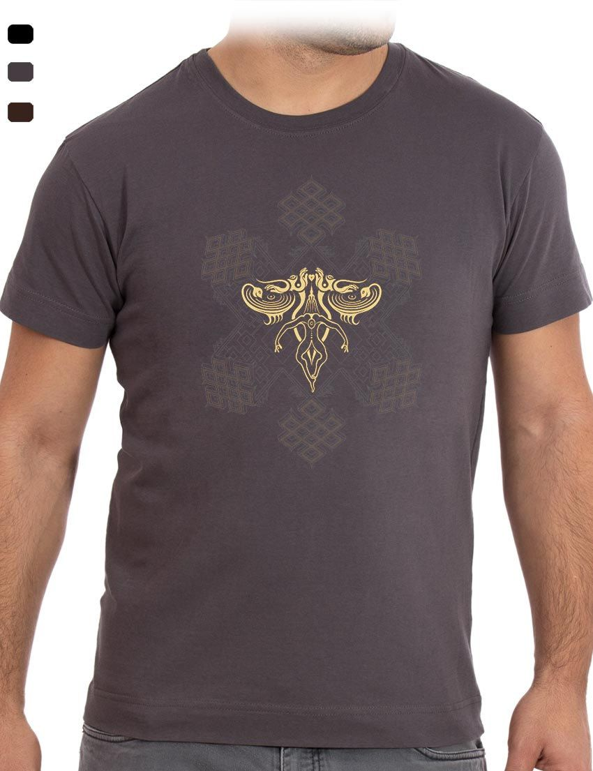 1f3fb2f7a164 Sacred geometry Tshirt Om on key screen printed Mens t shirt, black,  brown,Gray, S/ M / L / XL
