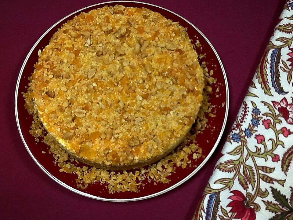 Torta de nata e amendoim com crocante de caramelo :: Pimenta na cozinha