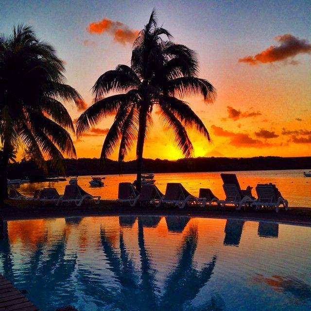 Amazing Sunset At Shandrani Resort & Spa, Mauritius. Photo