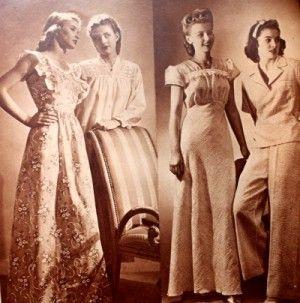 1940s Sleepwear  Nightgowns fd37da8da
