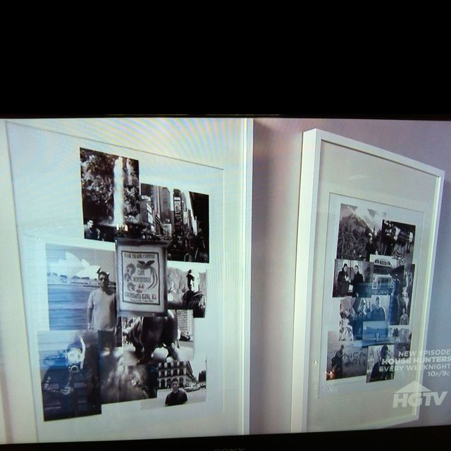 Black And White Collage Of Personal Photos From HGTV