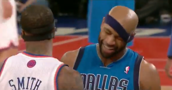 Video: J.R. Smith Pulls Down Vince Carter's Headband, Denies It After Game