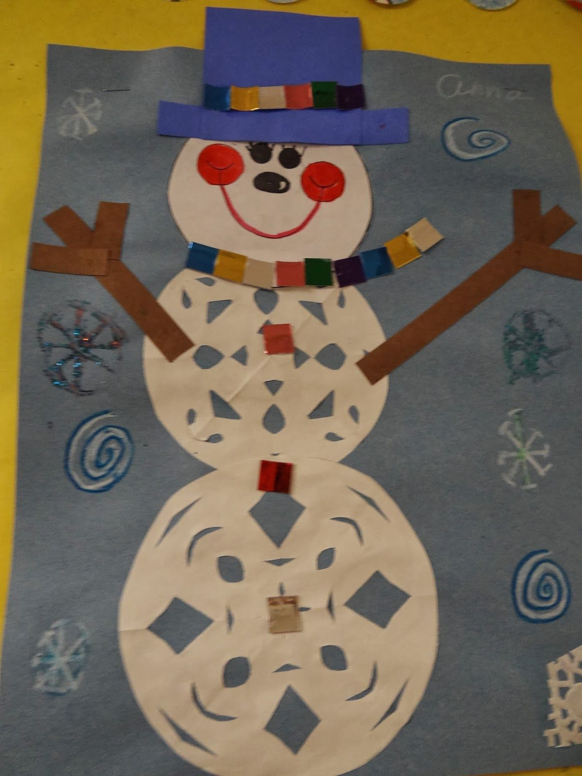Snowman Art And Winter Acrostic Poems