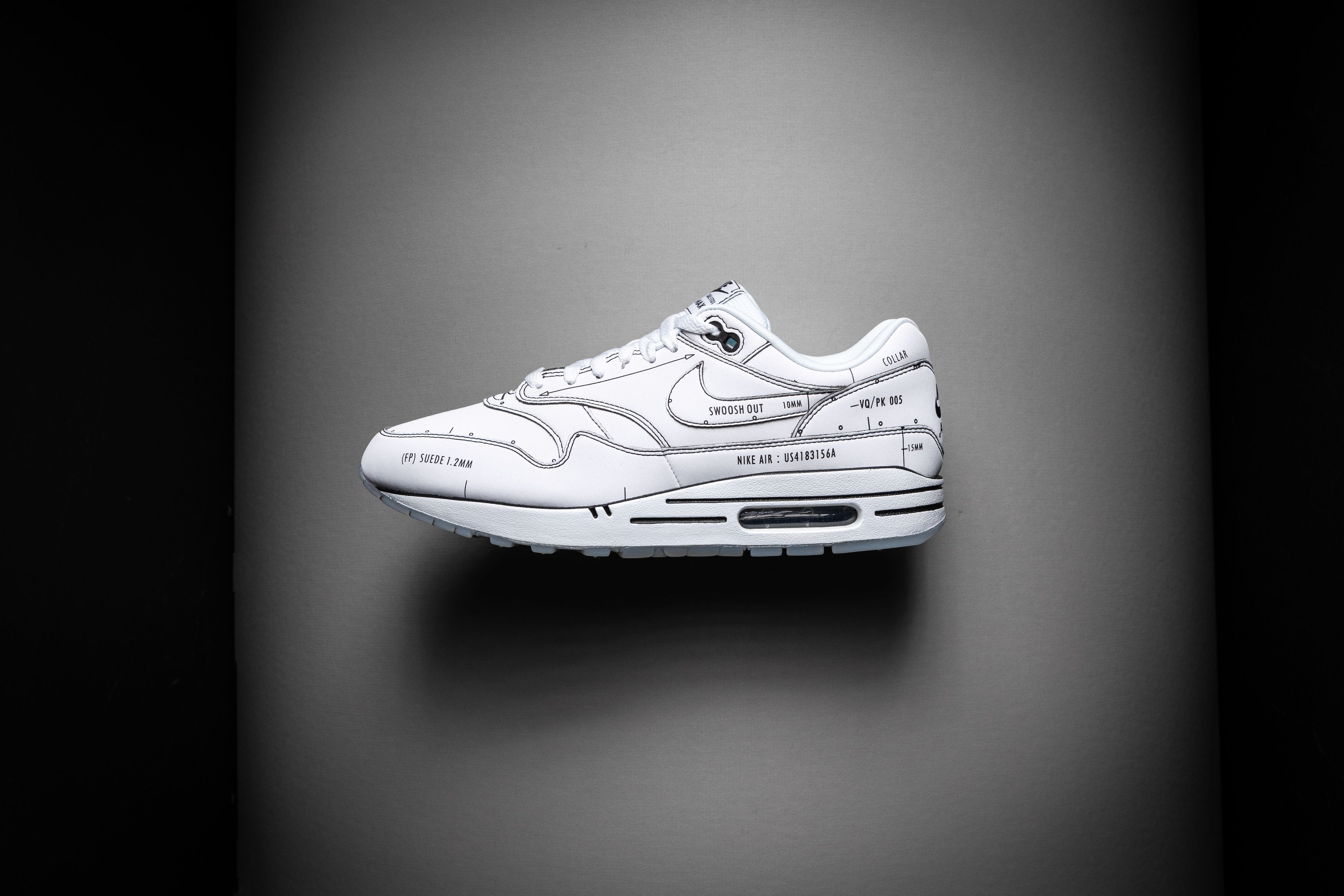 Nike 1 'Sketch Schematic' Shoes Size 4 | Nike Air Max in